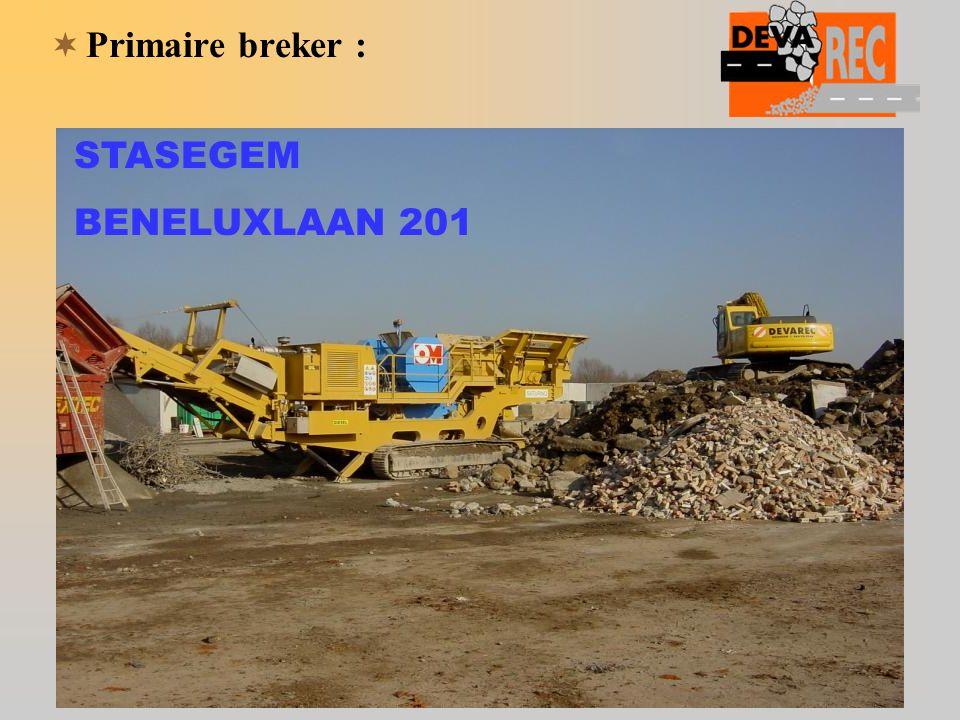  Primaire breker : STASEGEM BENELUXLAAN 201