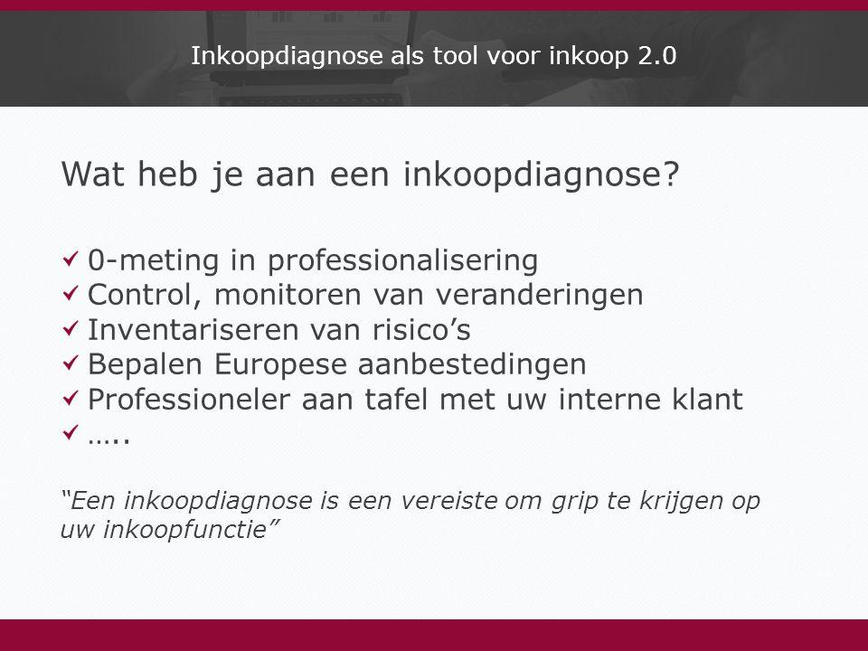 Inkoopdiagnose als tool voor inkoop 2.0 Wat heb je aan een inkoopdiagnose.