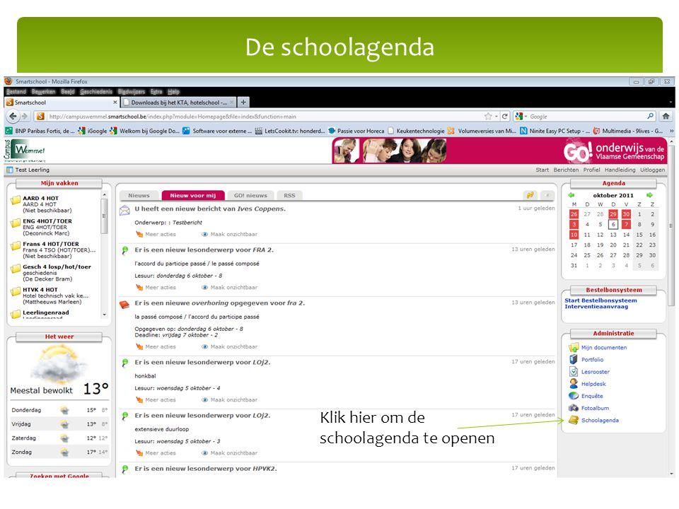 De schoolagenda Klik hier om de schoolagenda te openen