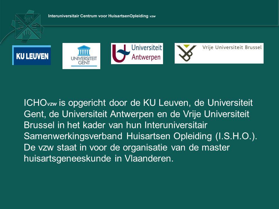 ICHO vzw is opgericht door de KU Leuven, de Universiteit Gent, de Universiteit Antwerpen en de Vrije Universiteit Brussel in het kader van hun Interun