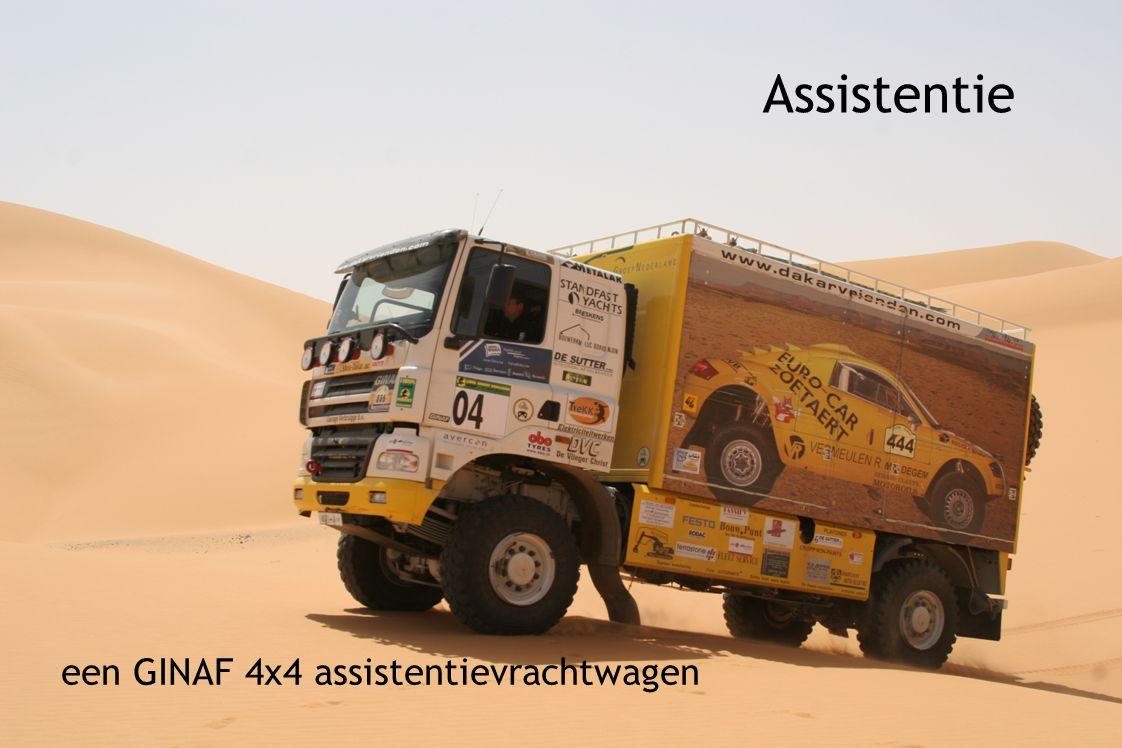 Assistentie een GINAF 4x4 assistentievrachtwagen