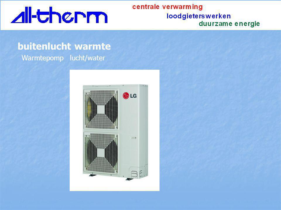 Warmtepomp lucht/water buitenlucht warmte