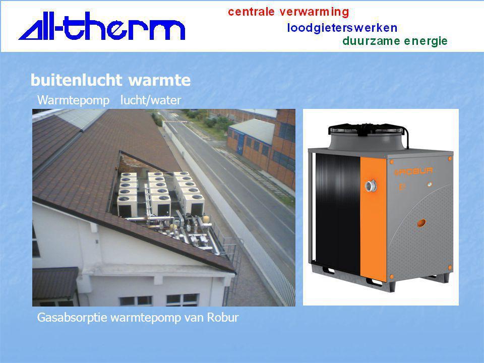 Warmtepomp lucht/water buitenlucht warmte Gasabsorptie warmtepomp van Robur