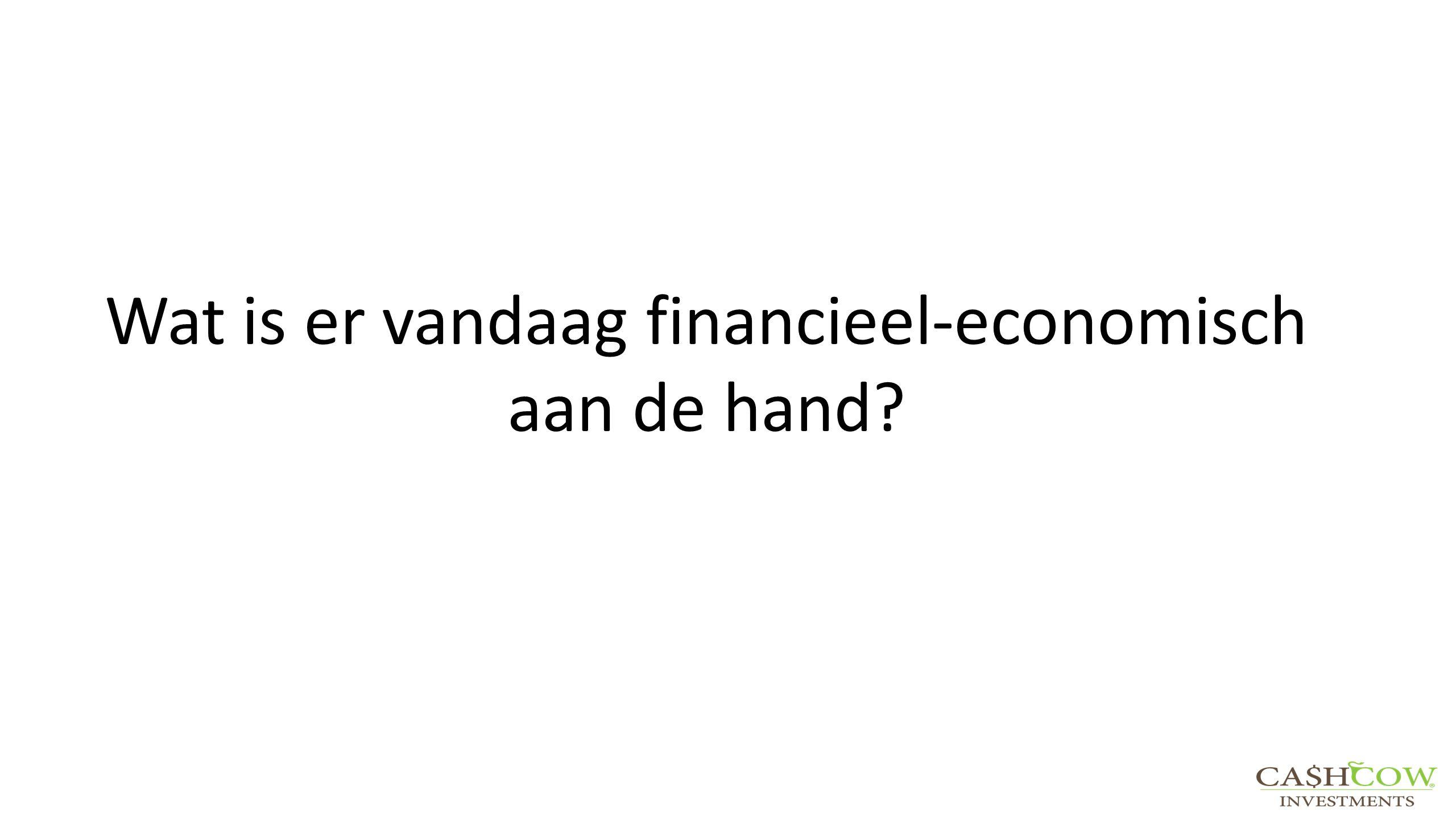 Wat is er vandaag financieel-economisch aan de hand?
