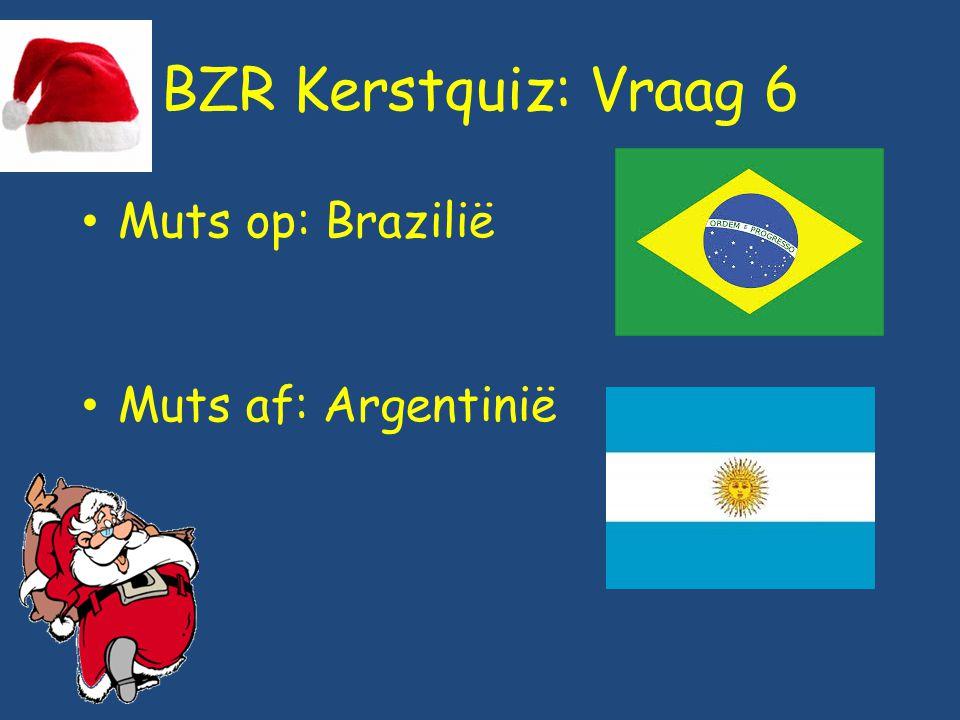 BZR Kerstquiz: Vraag 6 Muts op: Brazilië Muts af: Argentinië