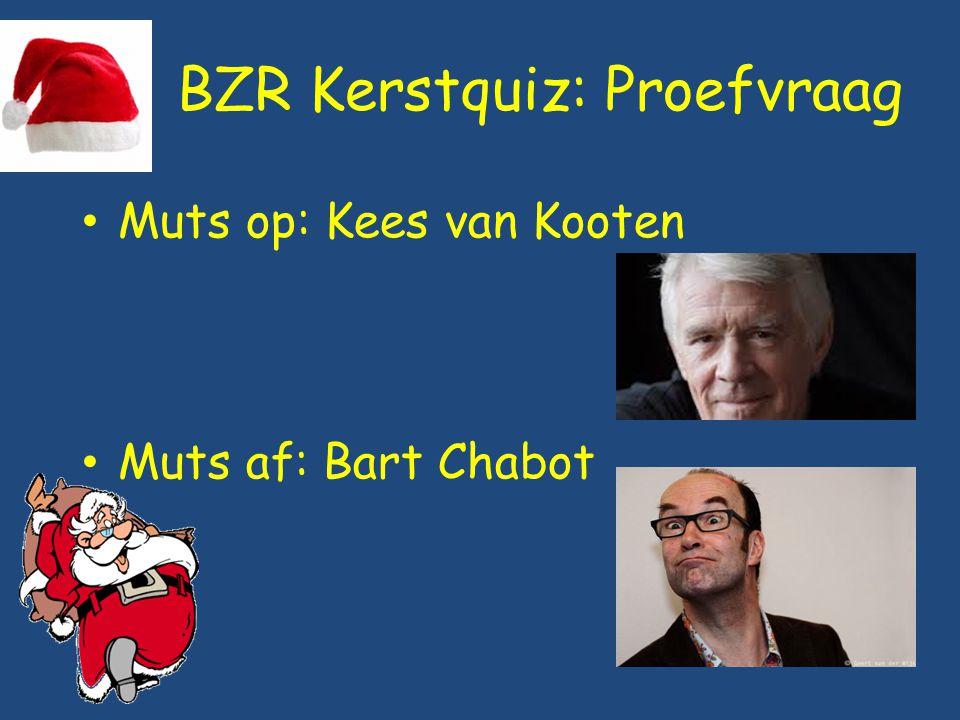 BZR Kerstquiz: Vraag 7 Muts op: Robert ten Brink Muts af: François Boulangé