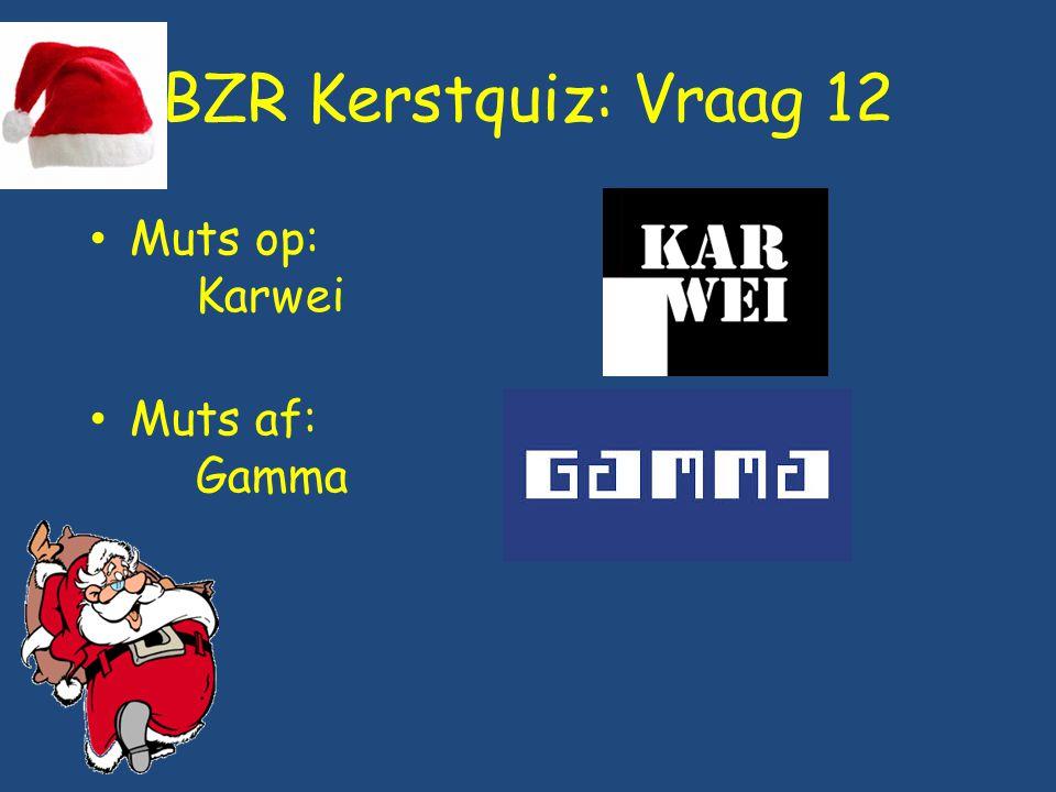 BZR Kerstquiz: Vraag 12 Muts op: Karwei Muts af: Gamma