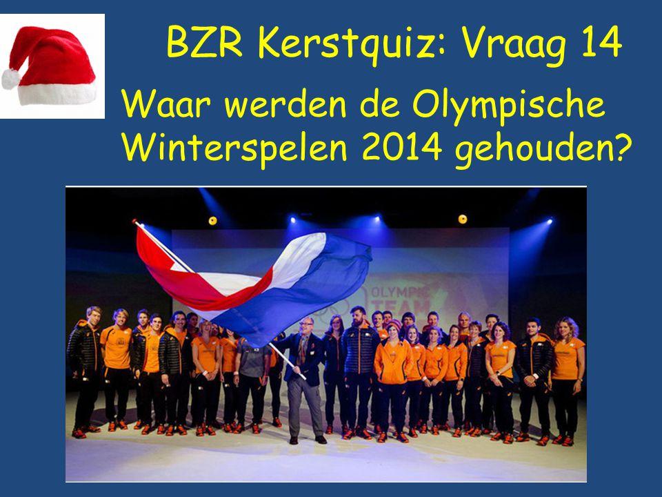 BZR Kerstquiz: Vraag 14 Waar werden de Olympische Winterspelen 2014 gehouden?