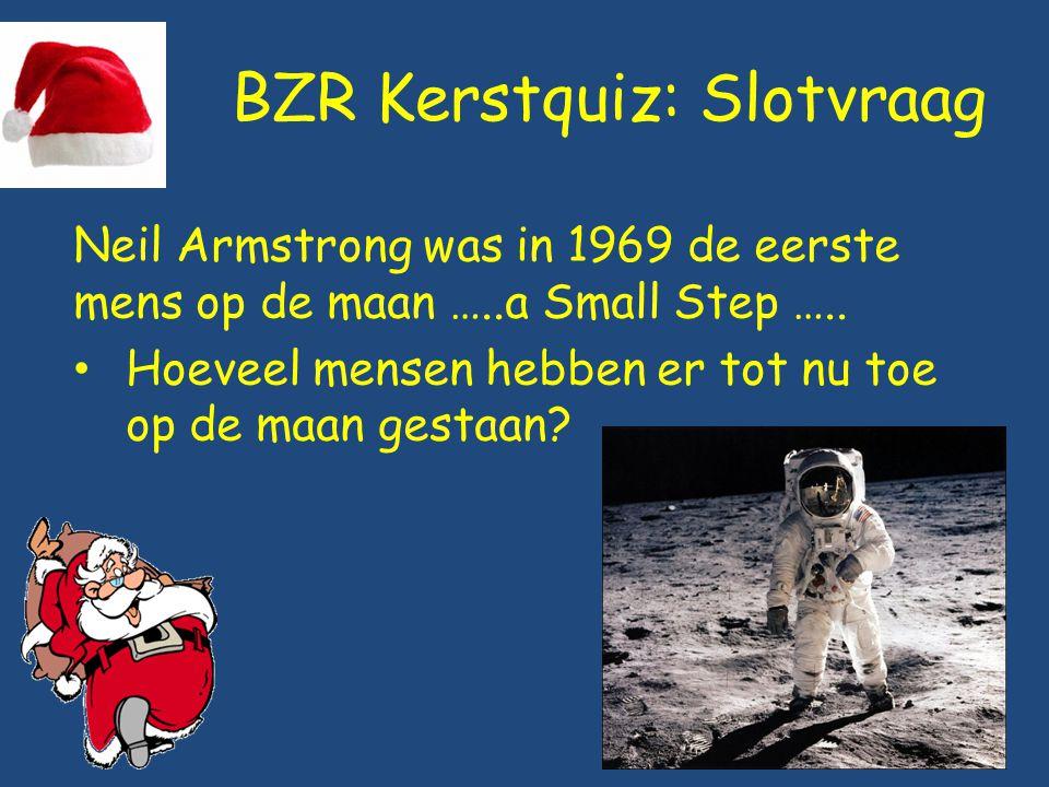 BZR Kerstquiz: Slotvraag Neil Armstrong was in 1969 de eerste mens op de maan …..a Small Step ….. Hoeveel mensen hebben er tot nu toe op de maan gesta