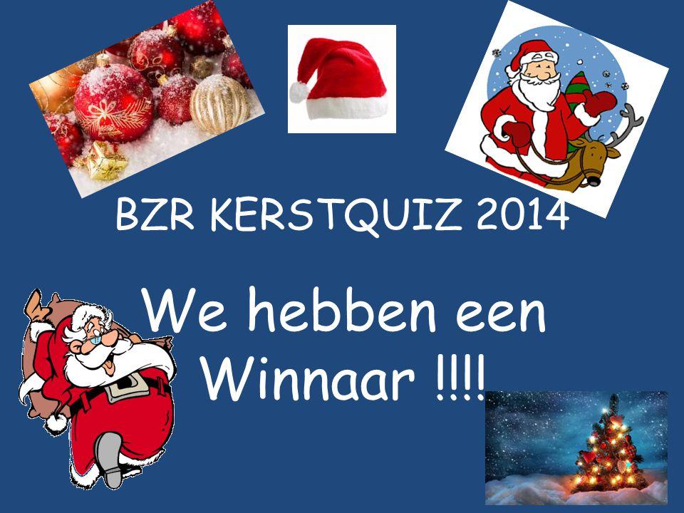 BZR KERSTQUIZ 2014 We hebben een Winnaar !!!!