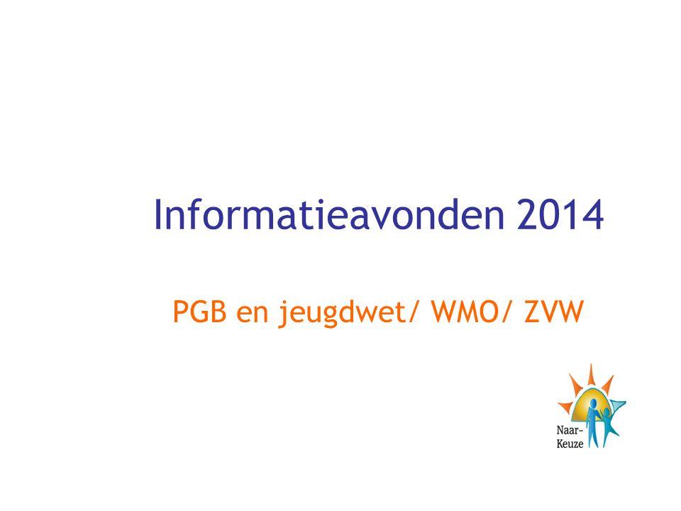 Informatieavonden 2014 PGB en jeugdwet/ WMO/ ZVW