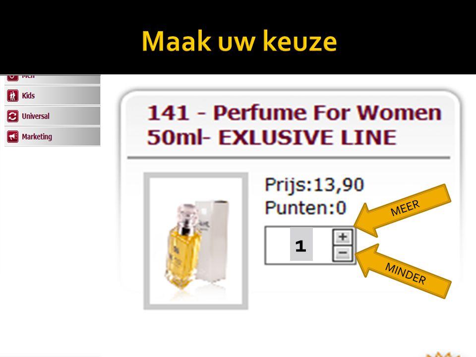 Aanduiding Best verkochte geuren MEER MINDER 1