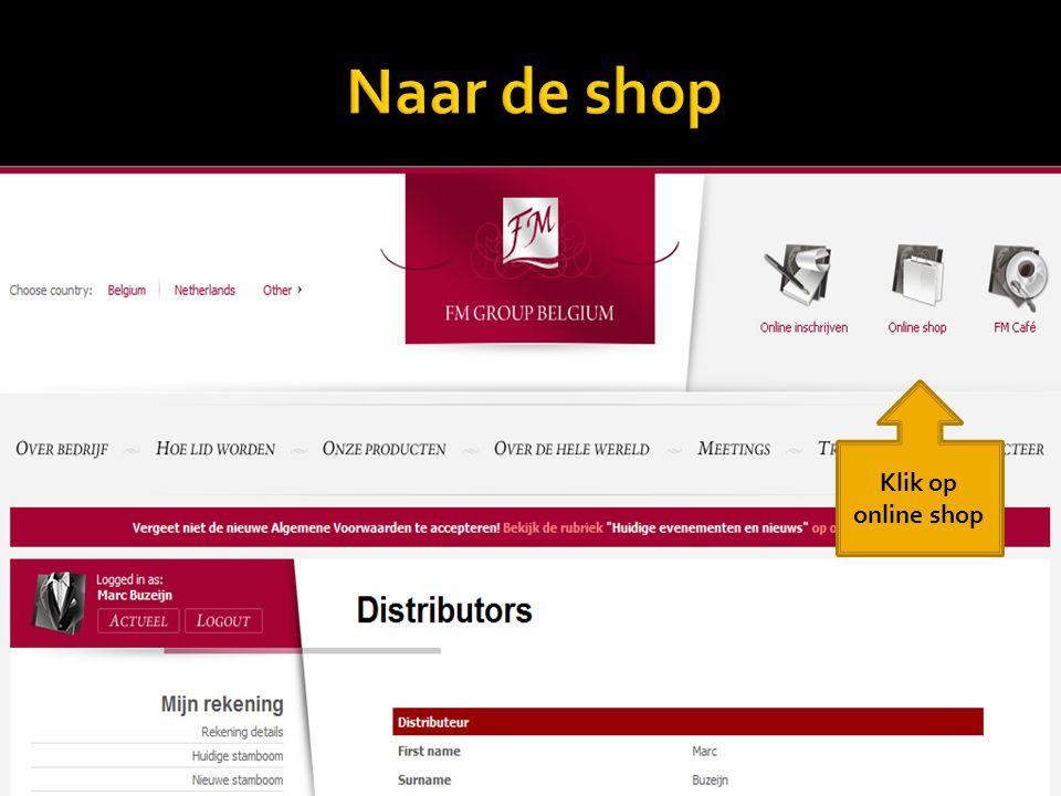 Klik op online shop