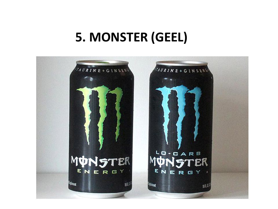 5. MONSTER (GEEL)