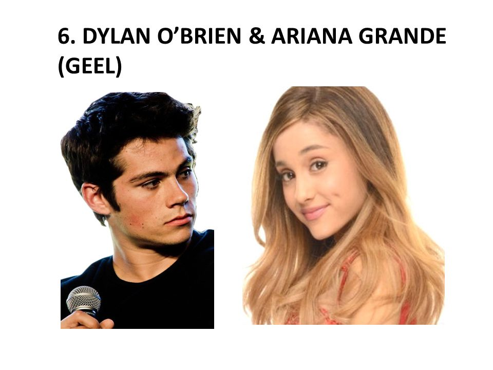 6. DYLAN O'BRIEN & ARIANA GRANDE (GEEL)