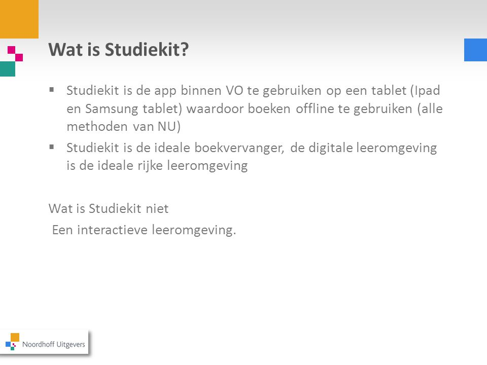 Wat is Studiekit.