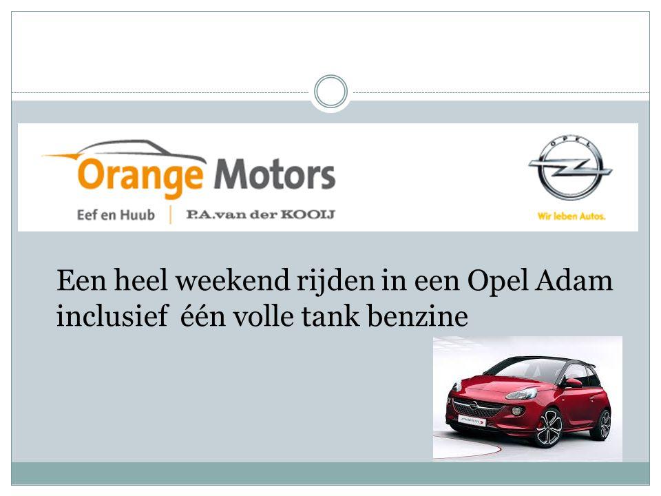 Een heel weekend rijden in een Opel Adam inclusief één volle tank benzine