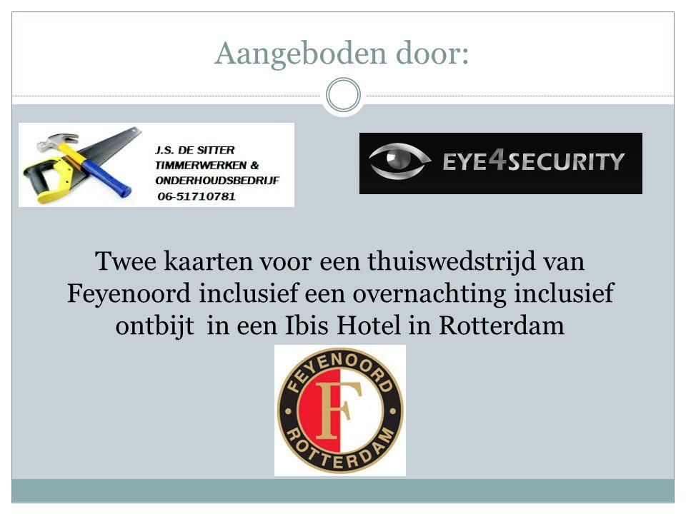 Aangeboden door: Twee kaarten voor een thuiswedstrijd van Feyenoord inclusief een overnachting inclusief ontbijt in een Ibis Hotel in Rotterdam