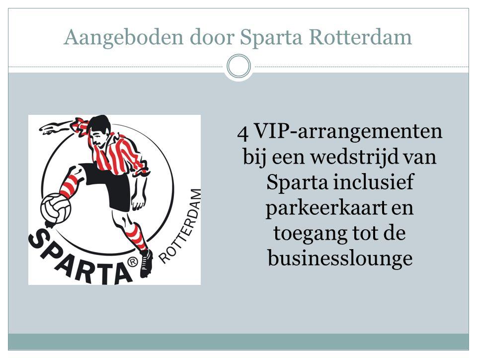 Aangeboden door Sparta Rotterdam 4 VIP-arrangementen bij een wedstrijd van Sparta inclusief parkeerkaart en toegang tot de businesslounge