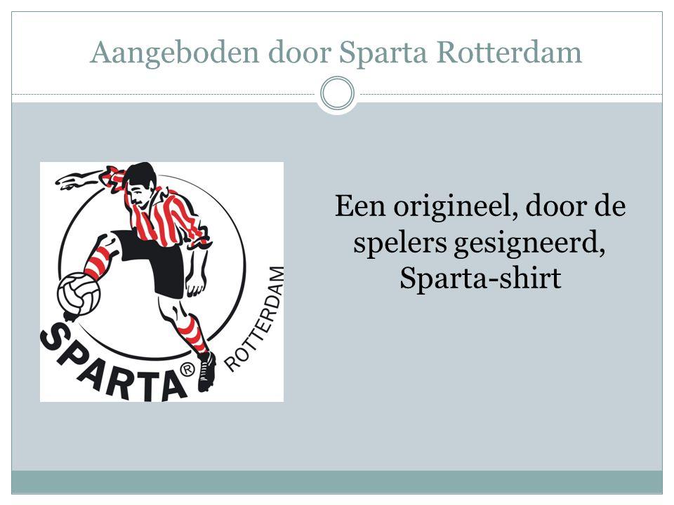 Aangeboden door Sparta Rotterdam Een origineel, door de spelers gesigneerd, Sparta-shirt