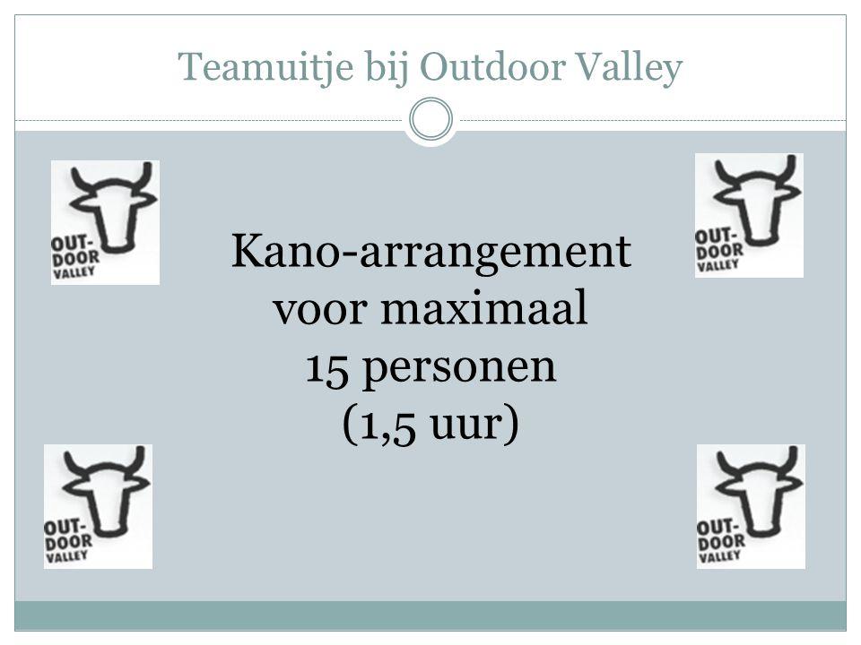 Teamuitje bij Outdoor Valley Kano-arrangement voor maximaal 15 personen (1,5 uur)