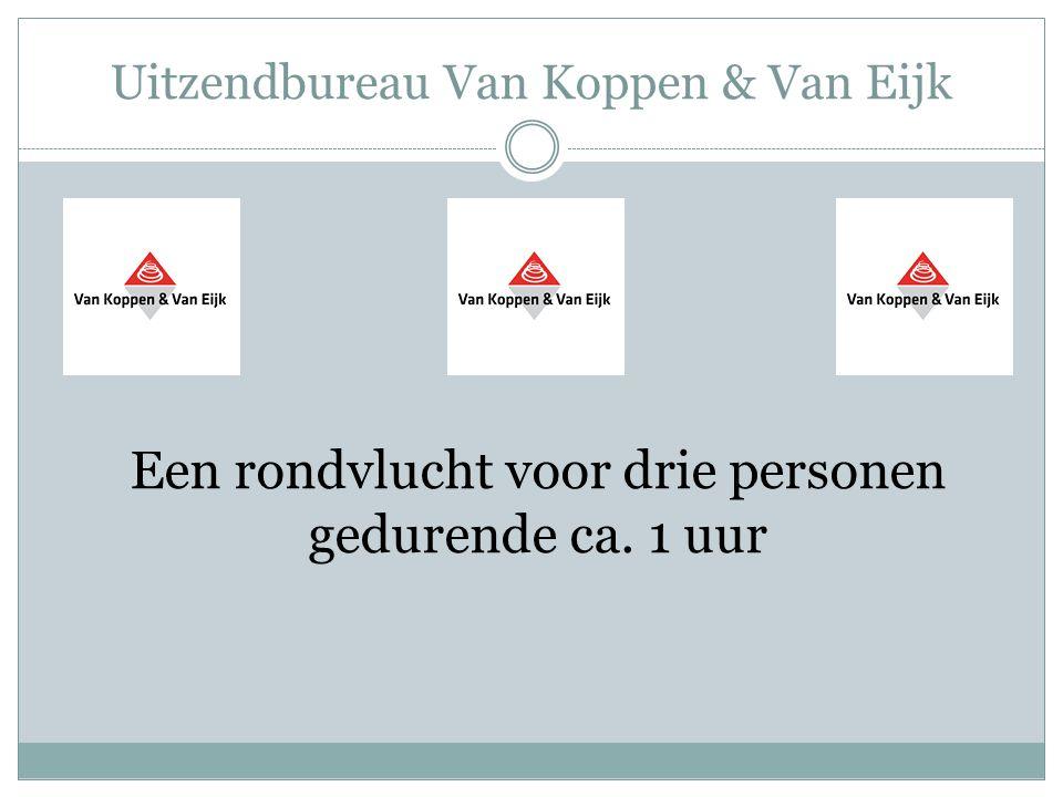 Uitzendbureau Van Koppen & Van Eijk Een rondvlucht voor drie personen gedurende ca. 1 uur