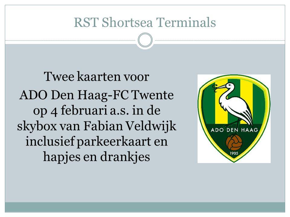 RST Shortsea Terminals Twee kaarten voor ADO Den Haag-FC Twente op 4 februari a.s.