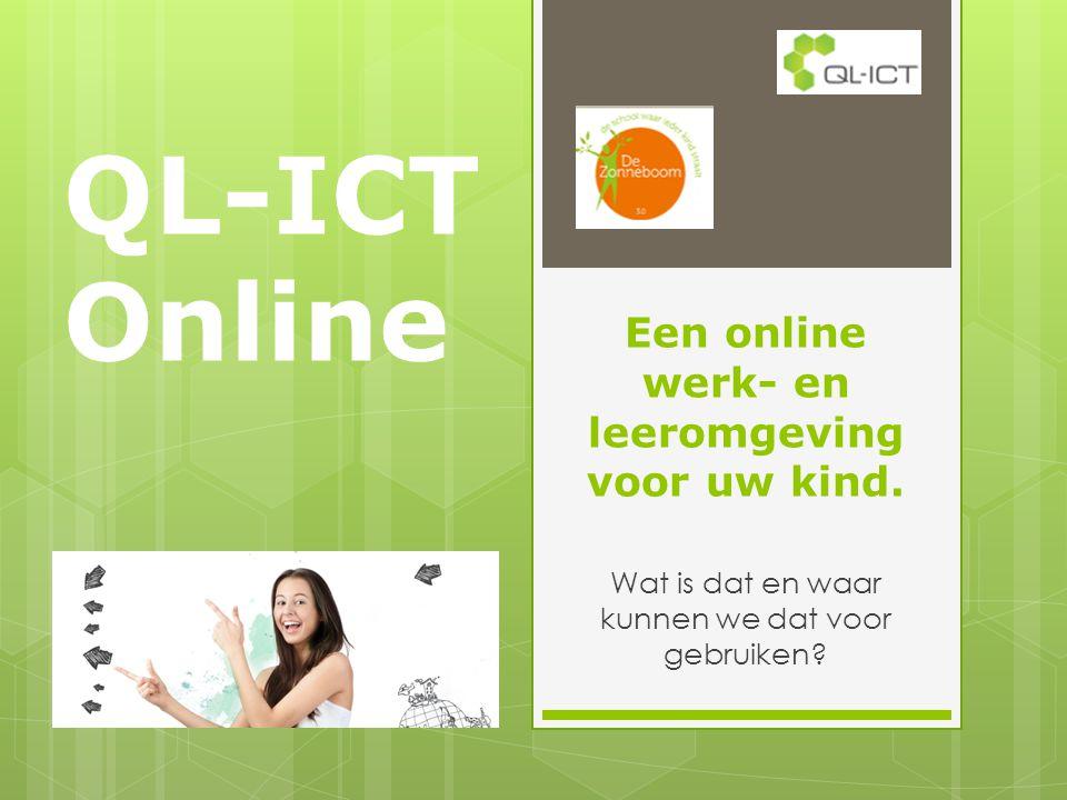 Een online werk- en leeromgeving voor uw kind.Wat is dat en waar kunnen we dat voor gebruiken.