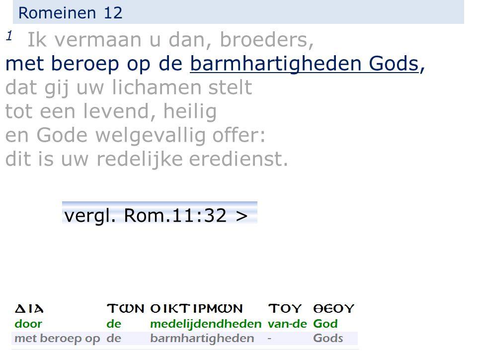 Romeinen 11:32 Want God heeft hen allen onder ongehoorzaamheid besloten, om Zich over hen allen te ontfermen.