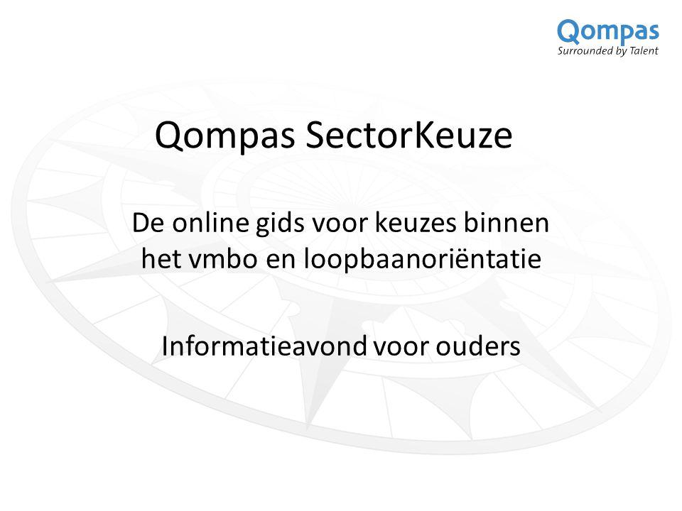 Qompas SectorKeuze De online gids voor keuzes binnen het vmbo en loopbaanoriëntatie Informatieavond voor ouders