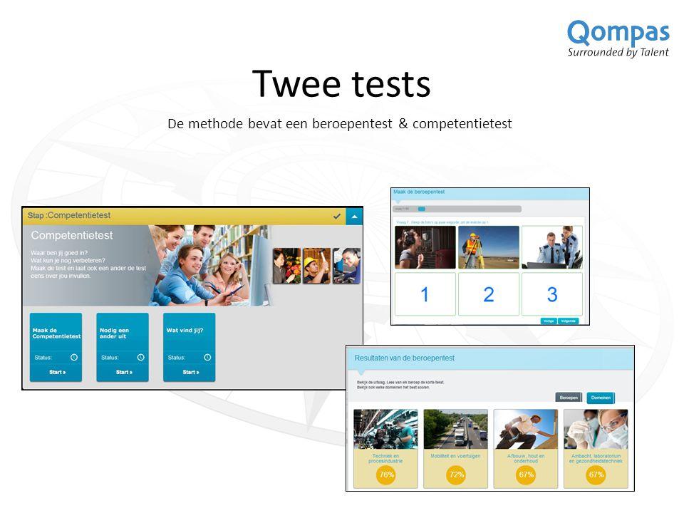 Twee tests De methode bevat een beroepentest & competentietest