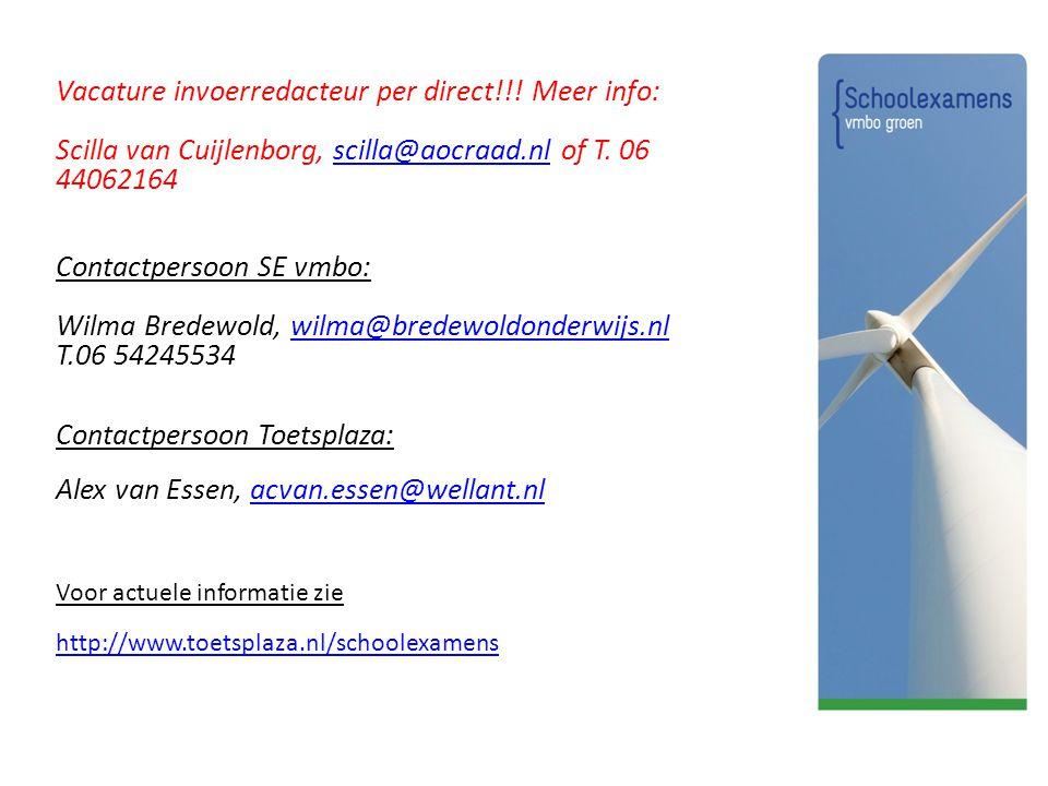 Vacature invoerredacteur per direct!!! Meer info: Scilla van Cuijlenborg, scilla@aocraad.nl of T. 06 44062164scilla@aocraad.nl Contactpersoon SE vmbo: