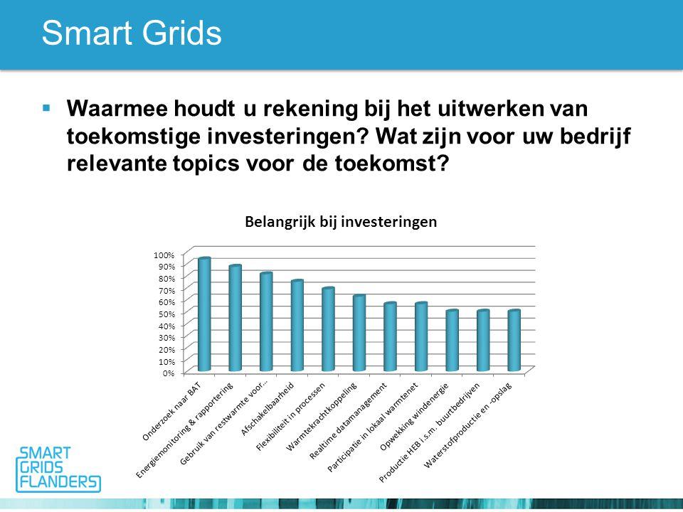 Smart Grids  Waarmee houdt u rekening bij het uitwerken van toekomstige investeringen.