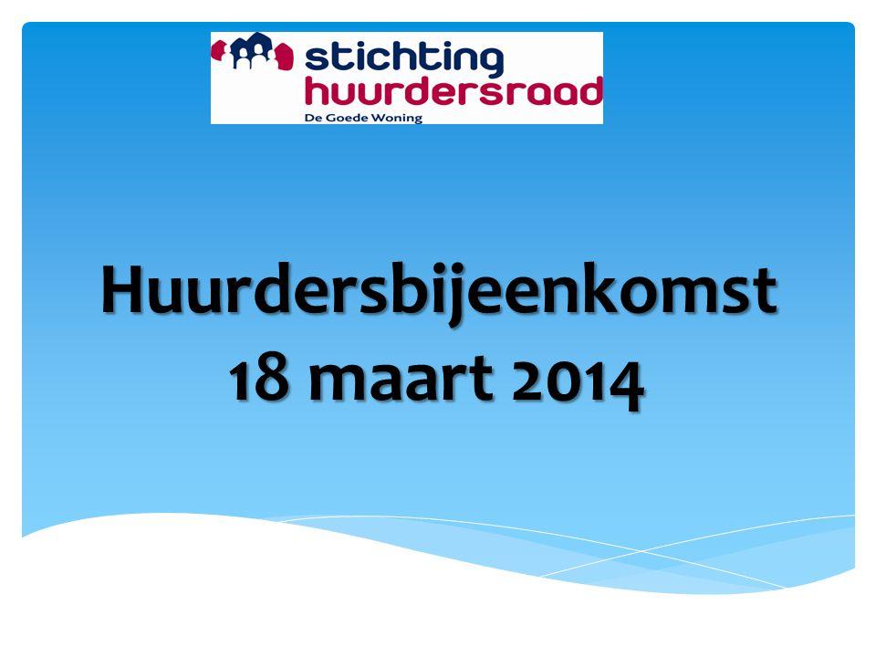 Huurdersbijeenkomst 18 maart 2014