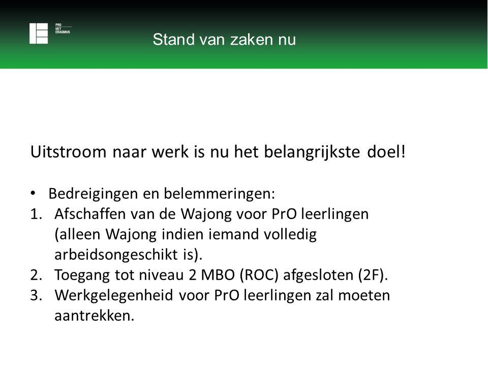 Na deze school Werken Sterke terugloop uitstroom naar werk 2005- 2014 ten koste van uitstroom naar MBO (ROC).