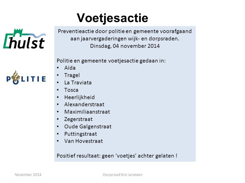 Hartveilig wonen November 2014Dorpsraad Sint Jansteen