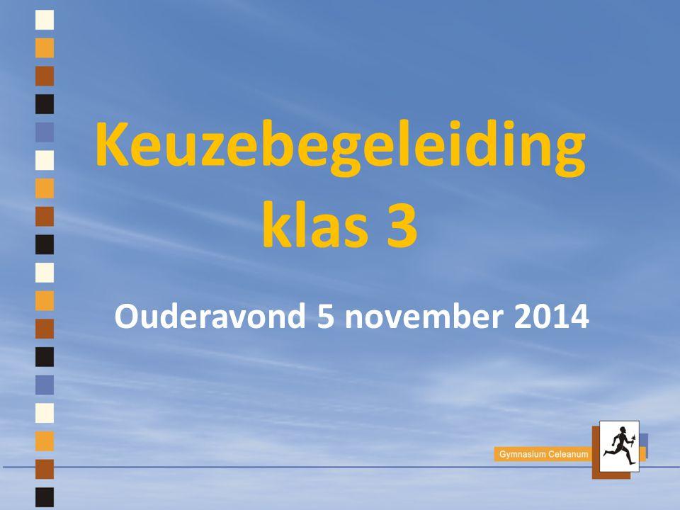 Keuzebegeleiding klas 3 Ouderavond 5 november 2014