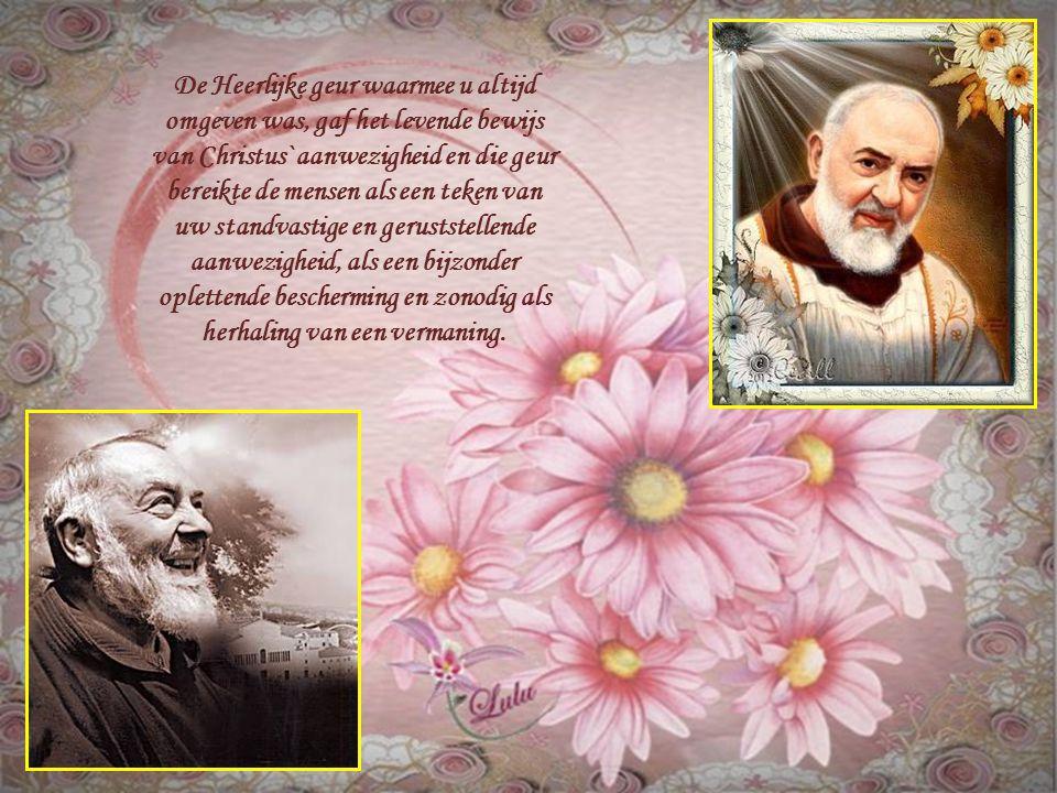O dierbare Pater Pio,u was zo mild en heeft de Heilige Geest zo lief gehad en waardeerde Zijn gaven zodanig, dat u de zielen in nood krachtig en besli