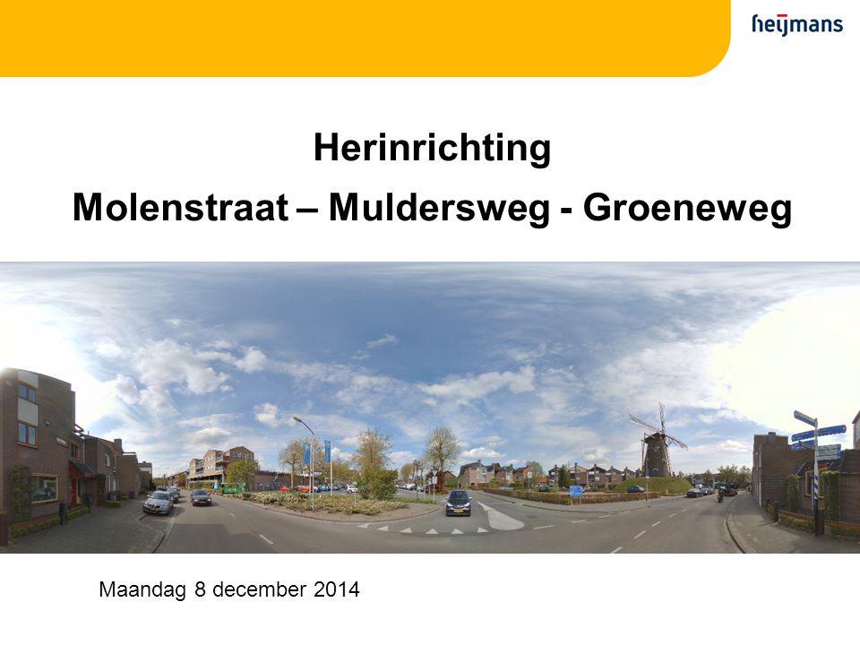 Herinrichting Molenstraat – Muldersweg - Groeneweg Maandag 8 december 2014