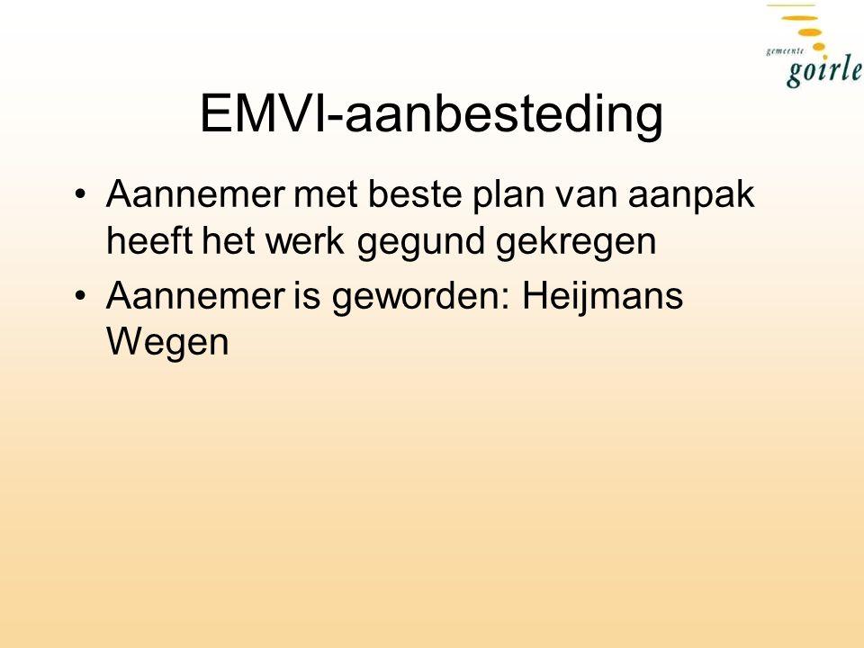EMVI-aanbesteding Aannemer met beste plan van aanpak heeft het werk gegund gekregen Aannemer is geworden: Heijmans Wegen