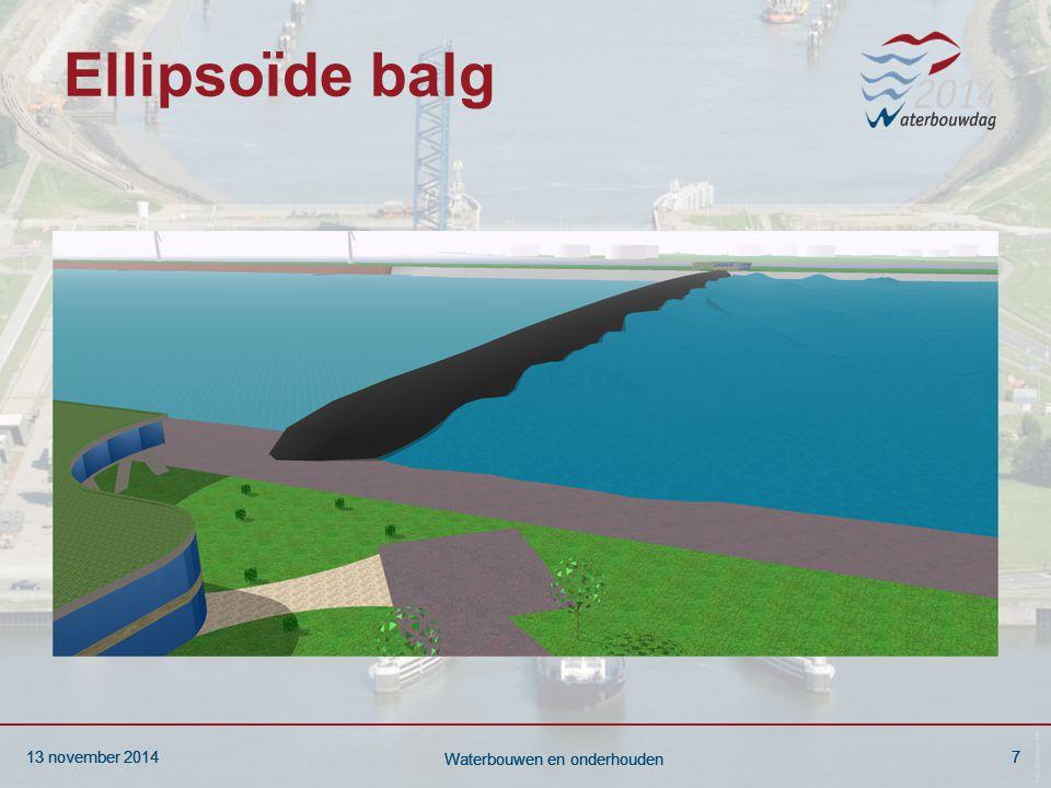 13 november 20147 Waterbouwen en onderhouden 13 november 20147 Waterbouwen en onderhouden 13 november 20147 Waterbouwen en onderhouden Ellipsoïde balg