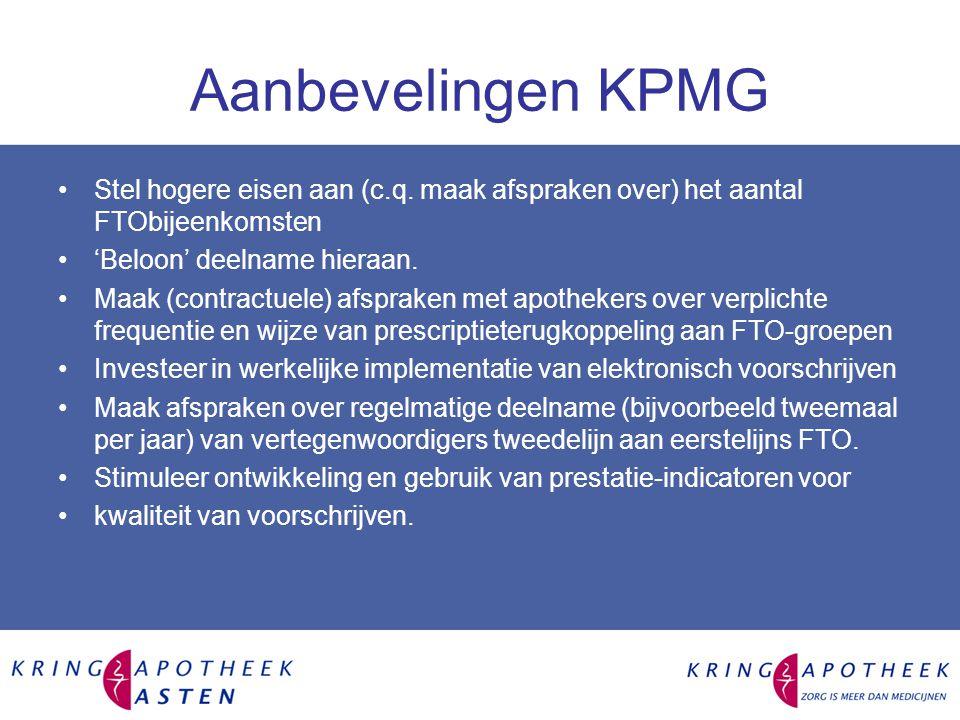 Aanbevelingen KPMG Stel hogere eisen aan (c.q.
