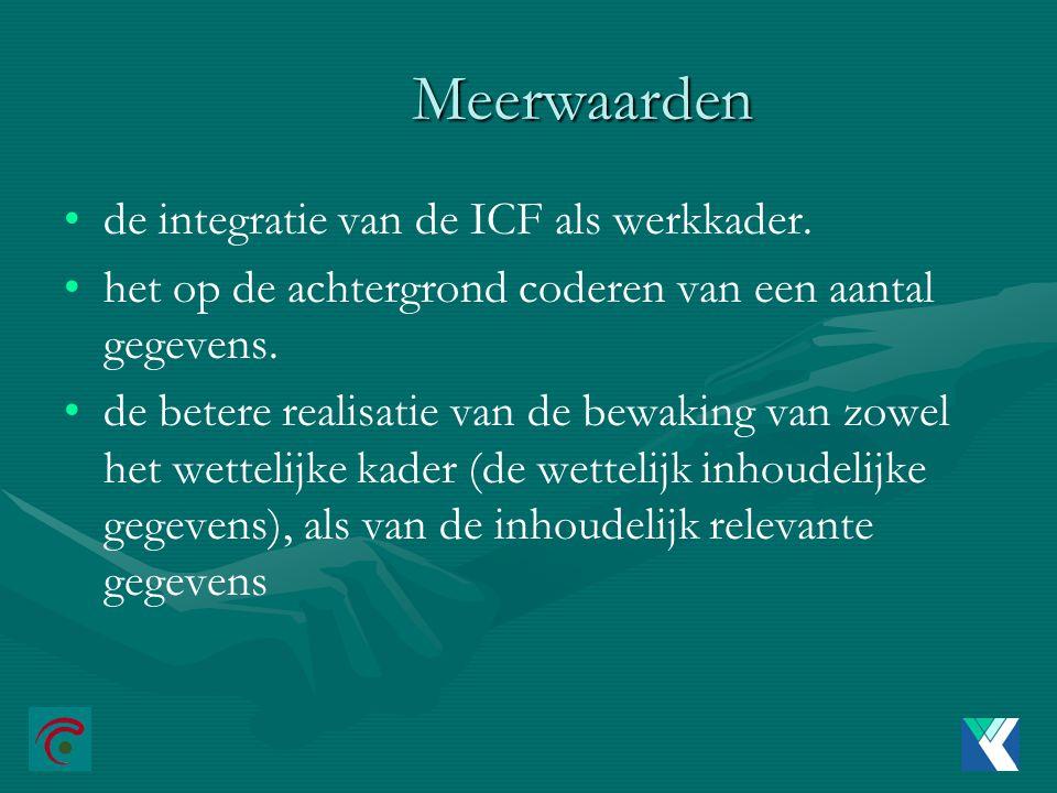 Meerwaarden de integratie van de ICF als werkkader.