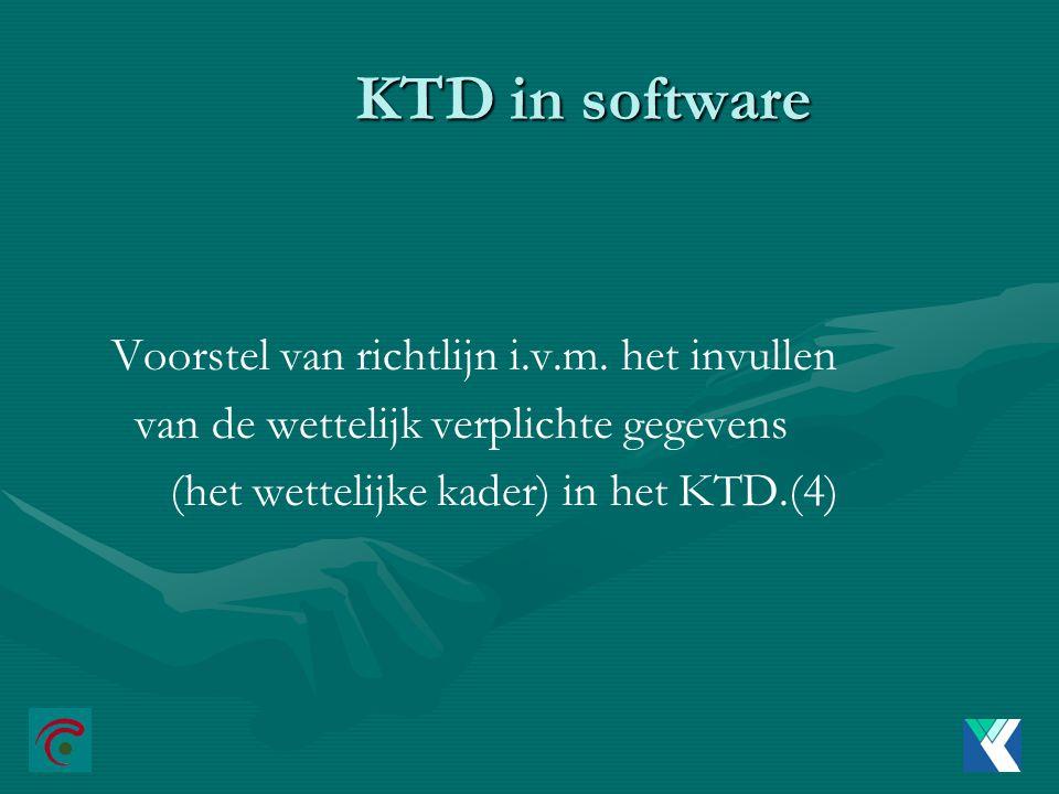 KTD in software Voorstel van richtlijn i.v.m.