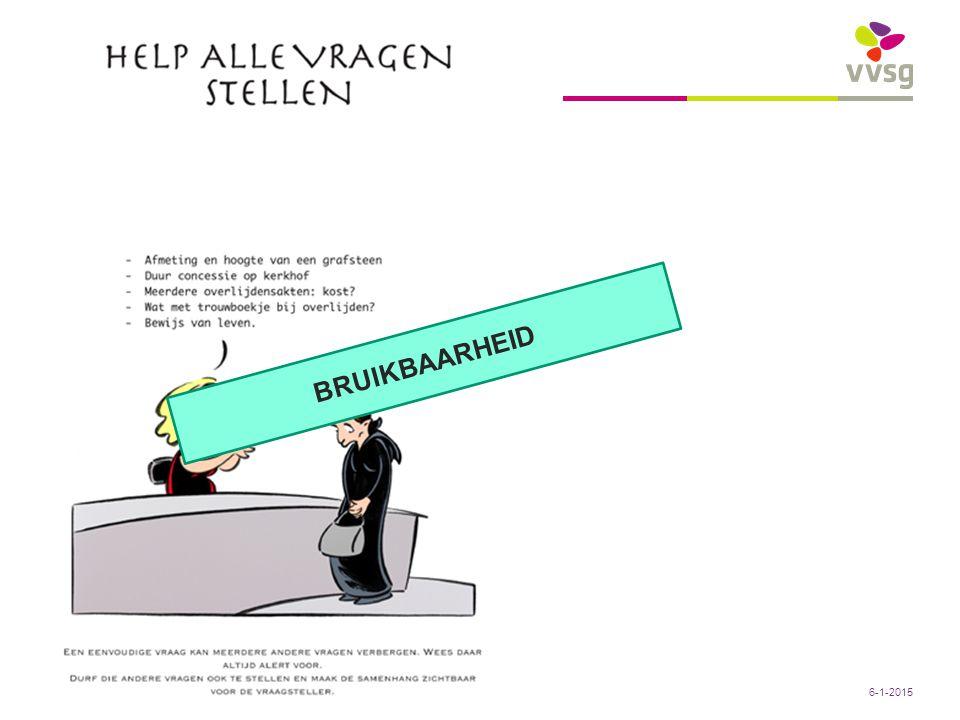 VVSG - Sociale Sociaal Huis Zottegem: denkdag 13/01/2011 – Peter Sels19 -6-1-2015 BRUIKBAARHEID