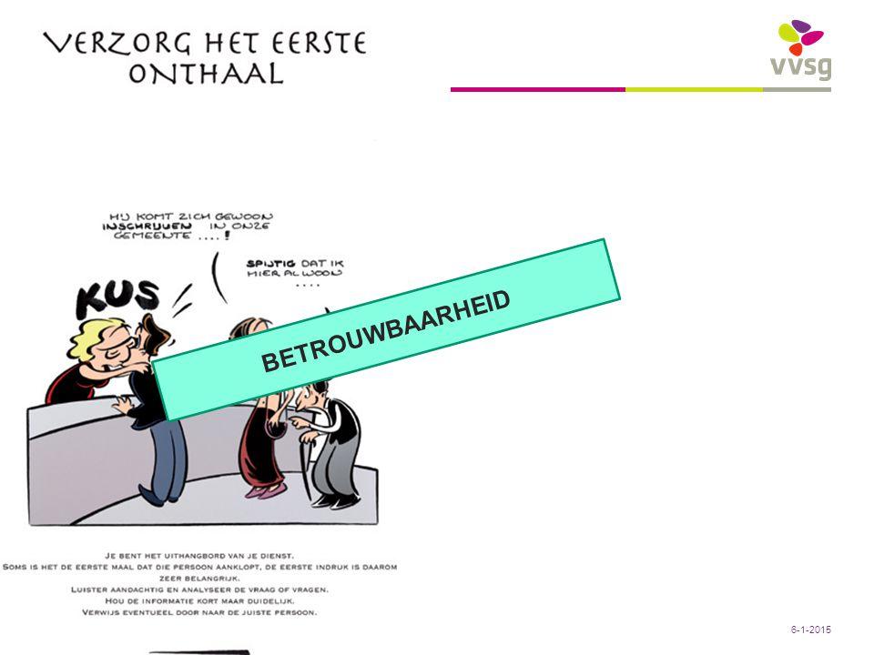 VVSG - Conclusies: Sociaal Huis Zottegem: denkdag 13/01/2011 – Peter Sels22 -6-1-2015 BETROUWBAARHEID