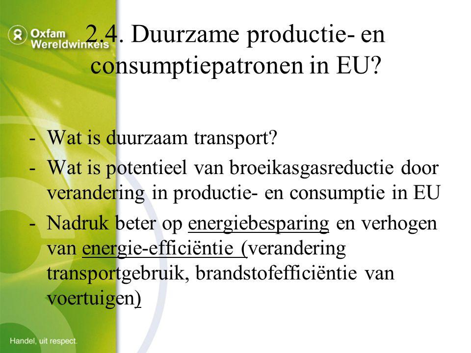 2.4. Duurzame productie- en consumptiepatronen in EU.