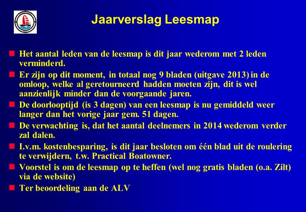 Jaarverslag Leesmap Het aantal leden van de leesmap is dit jaar wederom met 2 leden verminderd.