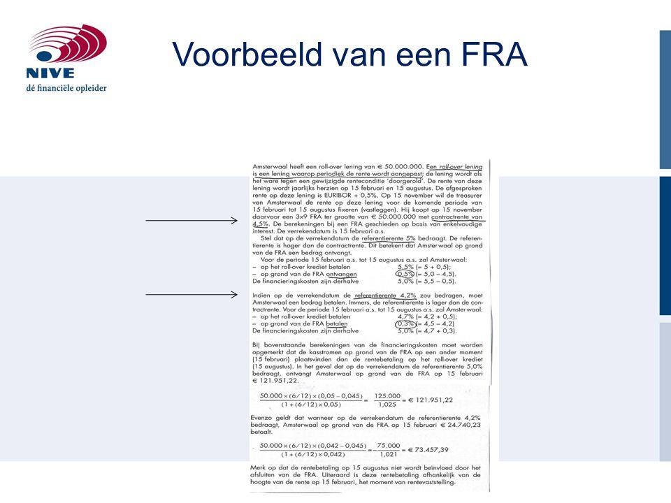 Voorbeeld van een FRA