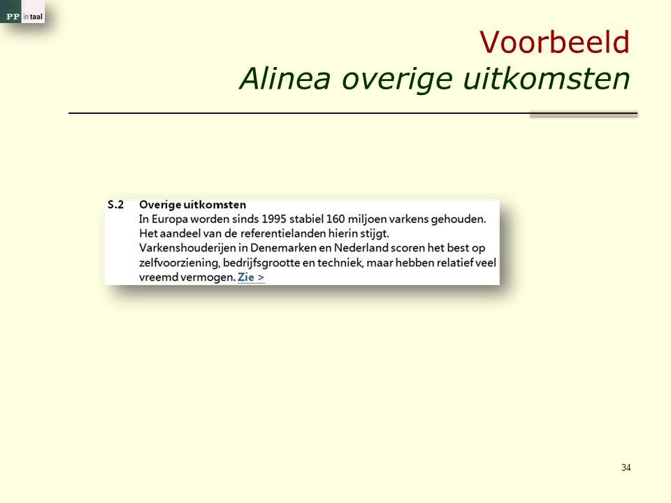 Voorbeeld Alinea overige uitkomsten 34